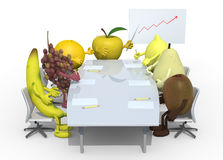 Fruits business meeting Stock Photo