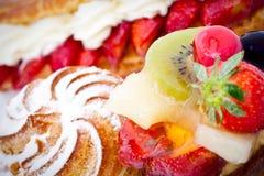 Fruits on cake Royalty Free Stock Images