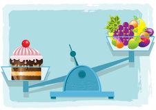 Fruits and cake Royalty Free Stock Photos