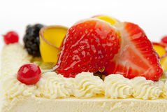 fruits on a cake Stock Images