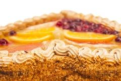 Fruits cake isolated on white Stock Photos