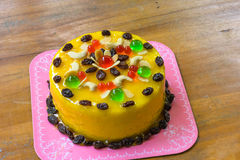 Fruits cake with mix cashew nut and dried fruit Stock Photography