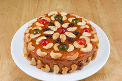 Fruits cake with mix nut and dried fruit. Fruits cake with mix cashew nut and dried fruit Royalty Free Stock Photography