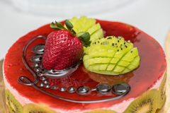 Fruits cake topping Royalty Free Stock Photos