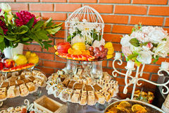 Fruits and cakes Royalty Free Stock Photos