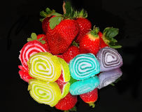 Fruits and candy Royalty Free Stock Photos