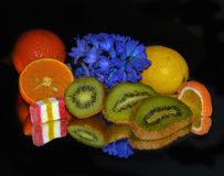 Fruits and candys Stock Photo