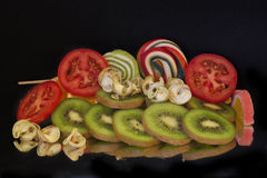 Fruits and candys Royalty Free Stock Image