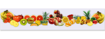 Fruits for card-2. Design of panorama from fresh fruit for a card Stock Images