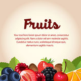 Fruits card Stock Photo