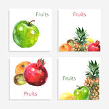 Fruits Cards Set Royalty Free Stock Images
