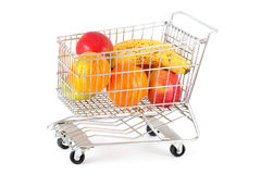 Fruits in a cart Stock Image