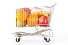 Fruits in a cart Royalty Free Stock Photos