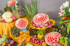 Fruits carvings Royalty Free Stock Photos