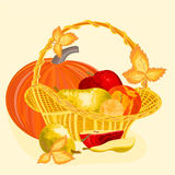 Fruits celebratory  christmas thanksgiving celebration vector Royalty Free Stock Images