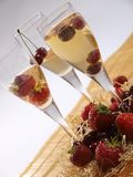 Fruits in champagne Royalty Free Stock Photo