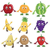 Fruits characters Royalty Free Stock Photo
