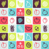 Fruits checked pattern Royalty Free Stock Photo