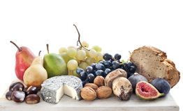 Fruits and cheese Stock Photos