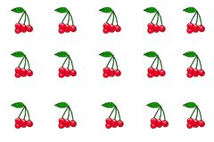 The fruits of the cherries. Illustration Royalty Free Stock Photography