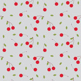 Fruits cherry seamless patterns vector. Cartoon fresh fruits in flat style. cherry seamless pattern. Fruits seamless patterns food summer design wallpaper vector Stock Image
