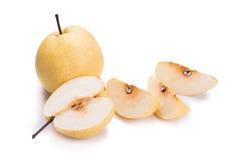 Fruits chinois de poire sur le fond blanc Image stock