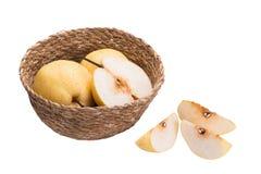 Fruits chinois de poire sur le fond blanc Image libre de droits