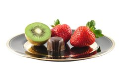Fruits and chocolate Royalty Free Stock Photo