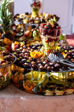 Fruits and chocolate Royalty Free Stock Photography