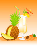Fruits cocktail Stock Images