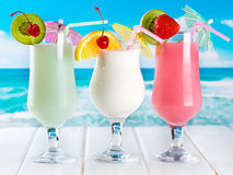 Fruits cocktails Royalty Free Stock Images