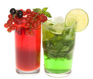 Fruits cocktails with berries and lime Stock Photo