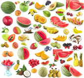 Fruits Collage. Collage of many fresh fruits Stock Images
