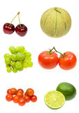Fruits collection stock images