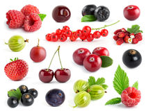 Fruits. Collection of berries Stock Photo