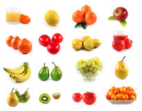 Fruits collection isolated Royalty Free Stock Photography