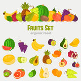 Fruits color flat icons set for web and mobile design. Fruits color flat icons set Royalty Free Stock Images