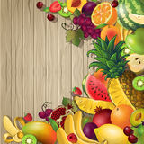 Fruits Colored Background Royalty Free Stock Image