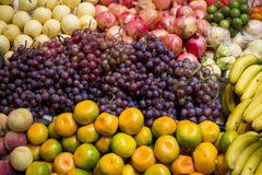 Fruits. Colorful fruits in Chinese market royalty free stock image