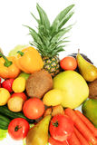Fruits combination. Fresh Vegetables, Fruits and other foodstuffs. Shot in a studio Royalty Free Stock Photography