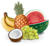 Fruits composition Royalty Free Stock Photos