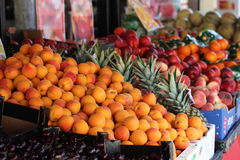 Fruits. Composition with fresh beautiful fruits Stock Photo