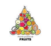 Fruits compostiton. Logo, card or banner Royalty Free Stock Photos