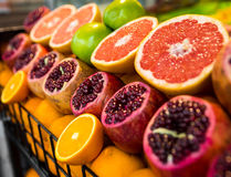 Fruits on the counter bazaar Royalty Free Stock Photo
