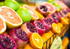 Fruits on the counter bazaar Stock Photos