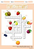 Fruits cross word concept royalty free illustration