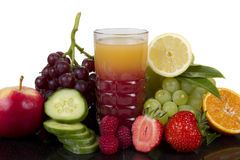 Fruits and cucumber juice Royalty Free Stock Photo