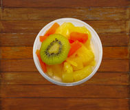 Fruits in the cup, Thai dessert Royalty Free Stock Image