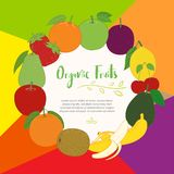 Fruits cute banner background template with copy space for promotional or sales event royalty free illustration