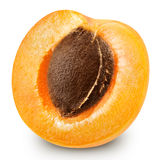 Fruits d'abricot d'isolement image stock